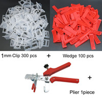 Accurate Tile Leveling System 1mm 300 Clips 100 Wedges 1Tile pliers Floor Wall Flat Leveler Plastic Spacers constructions tool