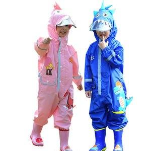 Детский плащ-дождевик, непромокаемые штаны для улицы, детский мультяшный дождевик для маленьких мальчиков и девочек 95-135 см, непромокаемый к...