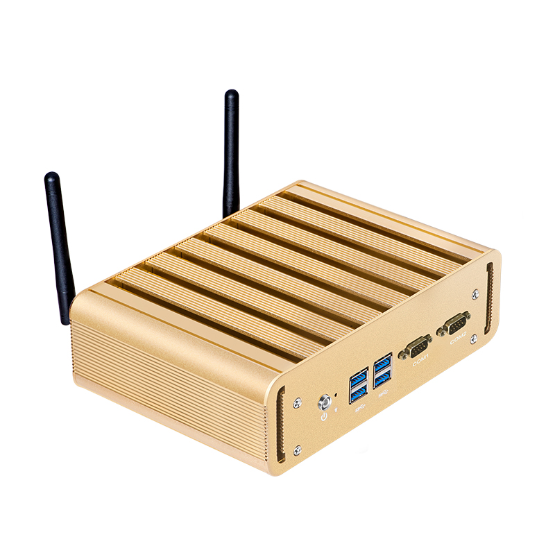Mini PC Comput Dual LAN 2*COM Core I7 4500U I5 4200U I3 4010U Windows 10 Wifi Hdmi Office Fanless HTPC USB PC HD Graphics 4400