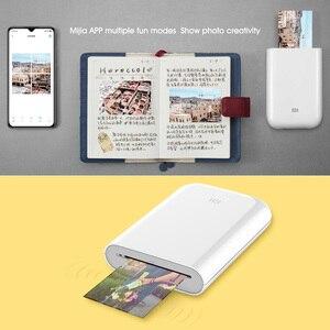 Image 4 - Xiaomi Printer AR Printer 300dpi Portable Photo Mini Pocket With DIY Share 500mAh picture printer pocket printer work with mijia