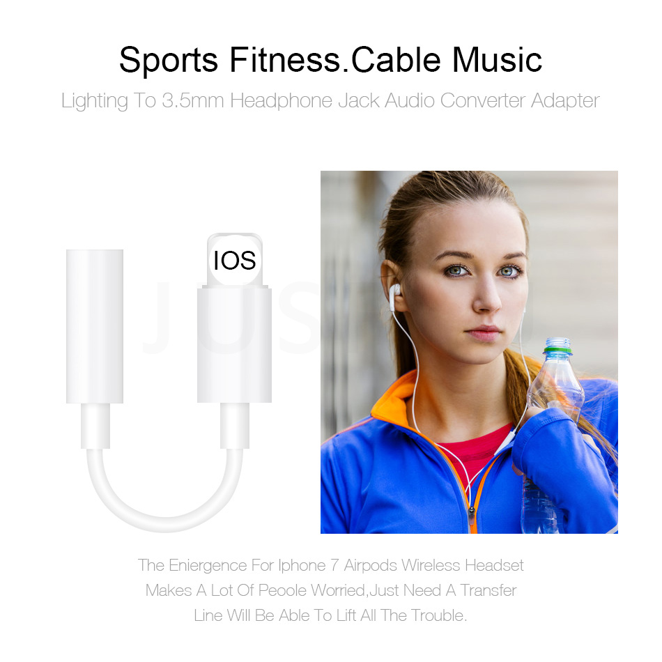 3,5 мм Aux разъемы для наушников аудио адаптер для IPhone X 7 8 Plus IOS12 Lighting Plug воспроизведение музыки аудио USB конвертер адаптер для гарнитуры
