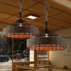 Retro Rh przemysłowe lampy wiszące światło żelazne liny do magazynu lampy wiszące w stylu vintage E27 żarówki Edison Ac110v/ac220v oświetlenie w Wiszące lampki od Lampy i oświetlenie na
