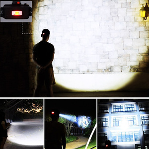 Image 5 - EZK20 Dropshipping T6 R5 Proiettori A LED 4 Modalità Impermeabile Hands free Del Faro Della Torcia Della Torcia Elettrica per Andare In Bicicletta Caccia di Campeggio