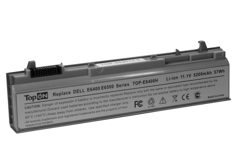 Аккумулятор TopON для Dell Latitude E6400, E6500, Precision 2400, 4400 Series, p/n: 312-0215, 312-0748, 312-0749 (4400mAh)