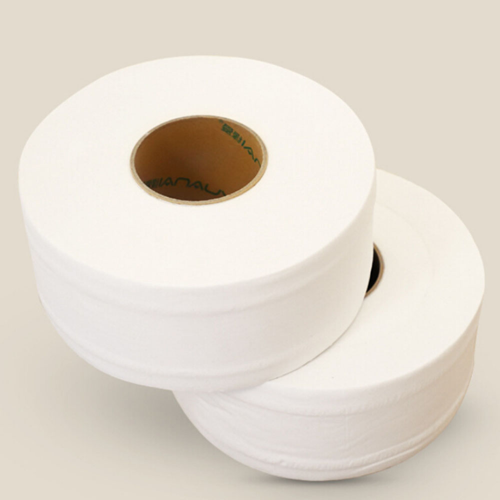 2 Roll Top Quality Jumbo Roll Toilet Paper 3-Layer Native Wood Soft Toilet Paper Pulp Home Rolling Paper Strong Water Absorption