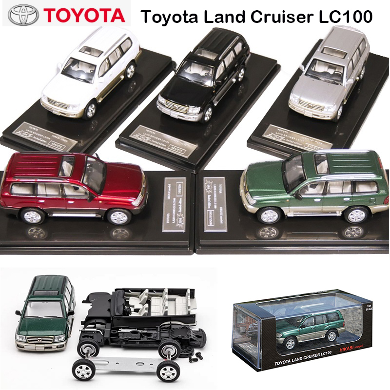 1:64 HIKASI Model Toyota Land Cruiser LC100 Diecast Model Car