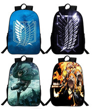 Anime Attack on Titan Kids Schoolbag no Kyojin Scouting Backpack Boys Bookbag Children Satchel Travel Rucksack New Year Gifts(China)