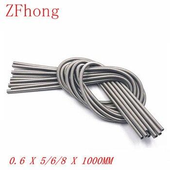 1 pieza 0,6x5/6/8x1000mm Acero Inoxidable Super larga tensión resorte extensión diámetro del cable 0,6mm Longitud mm