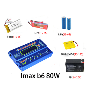Image 3 - Cargador de batería Lipro Balance, cargador iMAX B6, cargador de equilibrio Digital Lipro + adaptador de corriente 12V 6A, Cables de carga