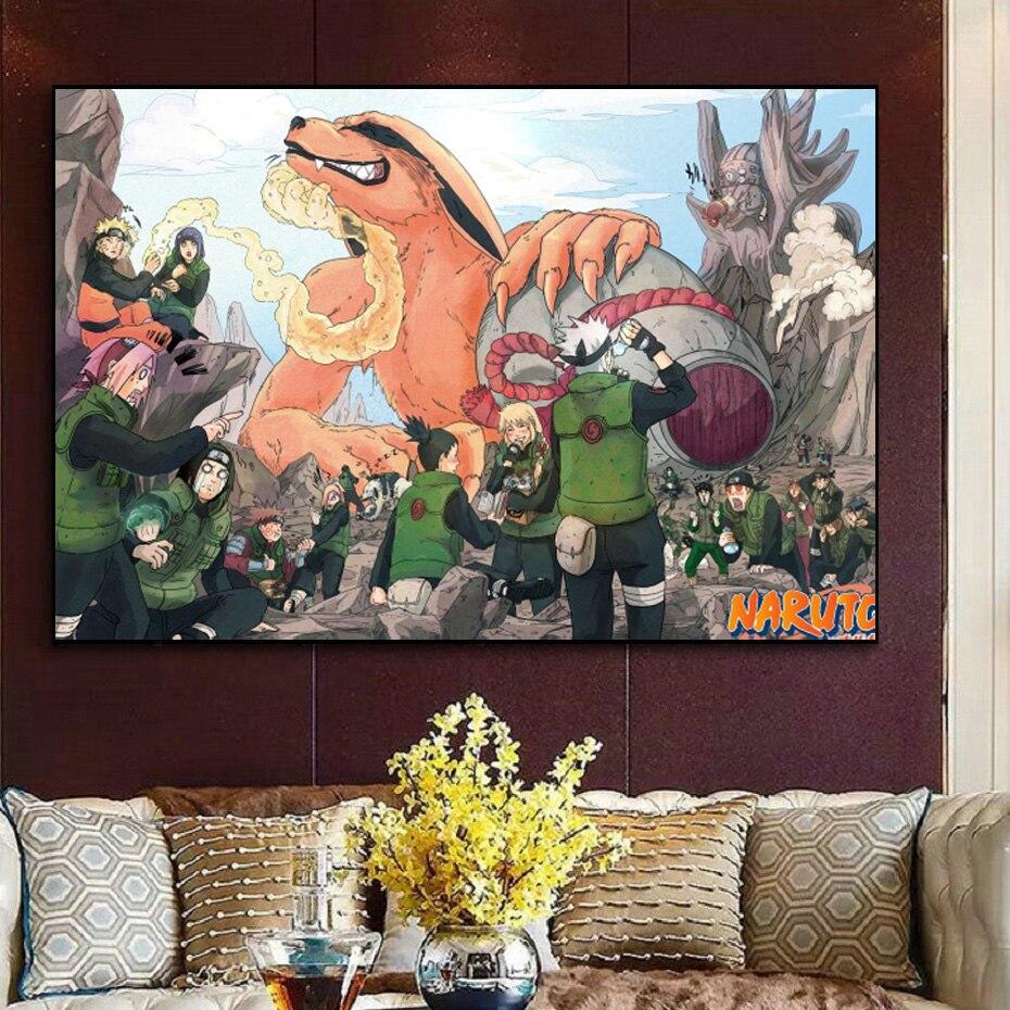 Masashi Kishimoto Classic Japanese Manga Poster Ninja Anime Character Print Print Poster Gift Family Bedroom Wall Decoration Pai