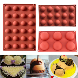 Ball Sphere Silicone Mold For Cake Pastry Baking Chocolate Candy Fondant Bakeware Round Shape Dessert Mould DIY Decorating Tools