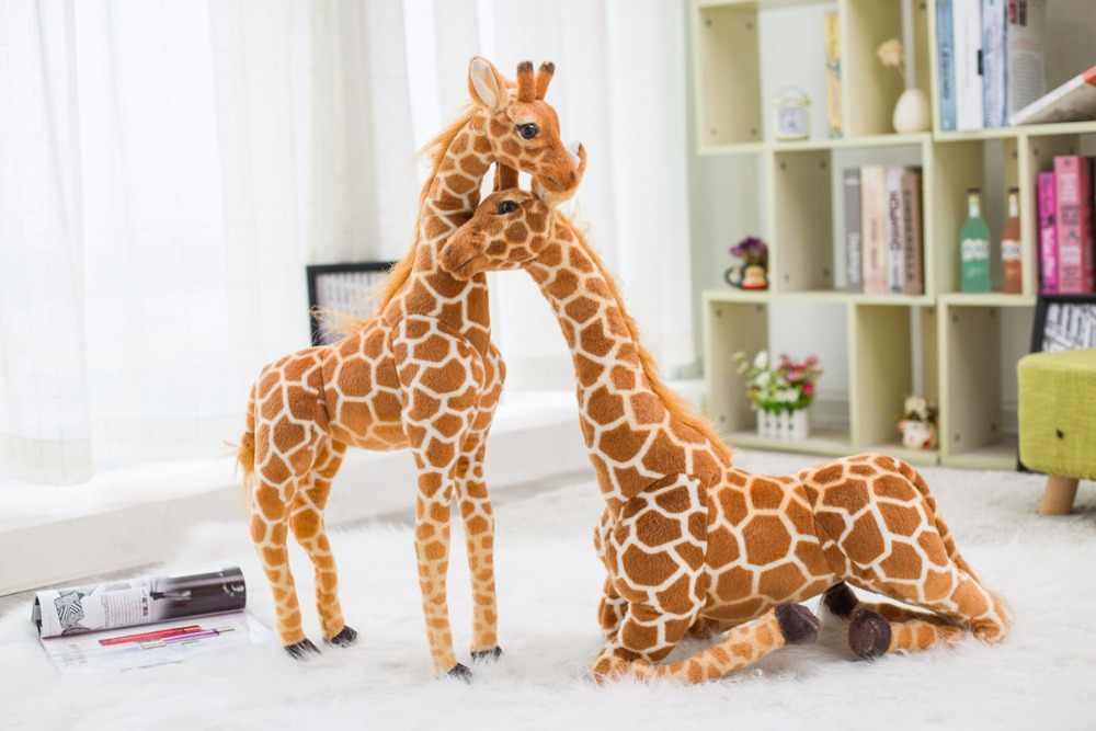 Carino Nordic Giraffa di Simulazione Animale di Pezza Giocattoli di Peluche Bambola Bambini Regalo Di Compleanno