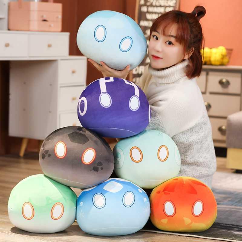 New Game Genshin Impact Slime Theme Cute Plush Dolls Keli Dango Throw Handful Toys Cartoon Birthday Xmas Gift