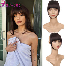 Fake Bang Hair-Extension Clip-On-Bangs Fringes Natural Synthetic Women AOOSOO