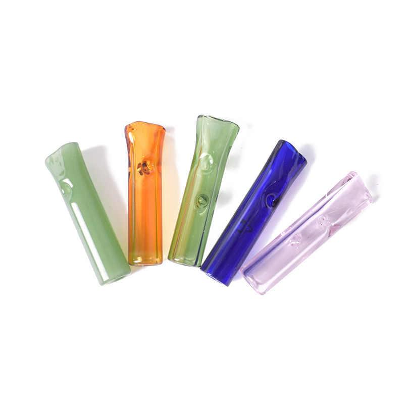 Glas zigarette roll Filter Kleine Zigarette Halter Rohre Filter Rauchen Rohr Tragbare Kreative Tabak Rohr Rauch Mundstück