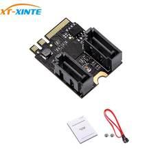 Cartão adaptador de motorista livre para m.2 para ngff a sata3 a-key + e-key para 2 portas sata 6gbp/s pcie 3.0 ônibus para wifi ssd hdd pc