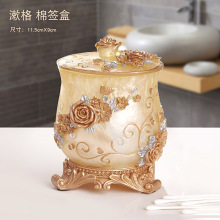 European receipt box cotton swab toothpick fashion desktop storage with