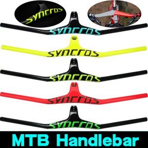 Image 1 - Syn personalizado campeão mtb guiador de bicicleta/riser 17 graus de uma forma integrado guiador 3k gloss ou fosco fibra de carbono avi