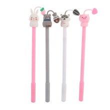 40 sztuk/partia chomik królik świnia kot długopis żelowy śliczne materiały biurowe szkoła żel wodny pióro atramentowe czarny tusz długopis signature escolar