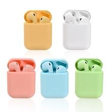 Macaron inPods 12 i12 TWS słuchawki Bluetooth Mini słuchawki bezprzewodowe słuchawki douszne zestaw słuchawkowy Bluetooth Auriculars Fone PK i7s i9s tanie tanio PLEXTONE Zaczep na ucho NONE Technologia hybrydowa CN (pochodzenie) Prawda bezprzewodowe 98dB Do Gier Wideo Wspólna Słuchawkowe