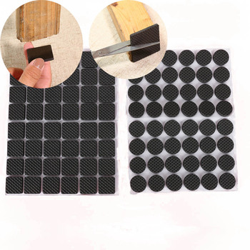 48 Pcs Non-slip Self Adhesive Furniture Rubber Table Chair Feet Pads Round Square Sofa Chair Leg Sticky Pad Floor Protectors Mat 18pcs oak furniture chair table leg self adhesive felt pads wood floor protectors anti scratch top quality