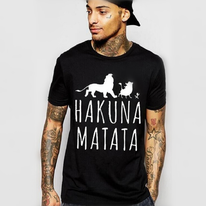 New Classic Movie Lion King Pattern Printing Youth Fashion Casual Short Sleeve O-neck 2019 Men Women T Shirts Free Shipping