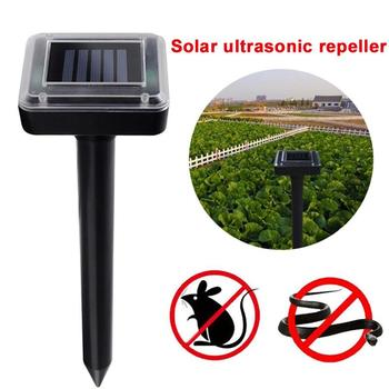 Ultrasonic Mouse Repeller ABS Yard Eco Friendly 400-1000(HZ) Electronic Outdoor Solar Power Repeller Ultrasonic Rat Repeller image