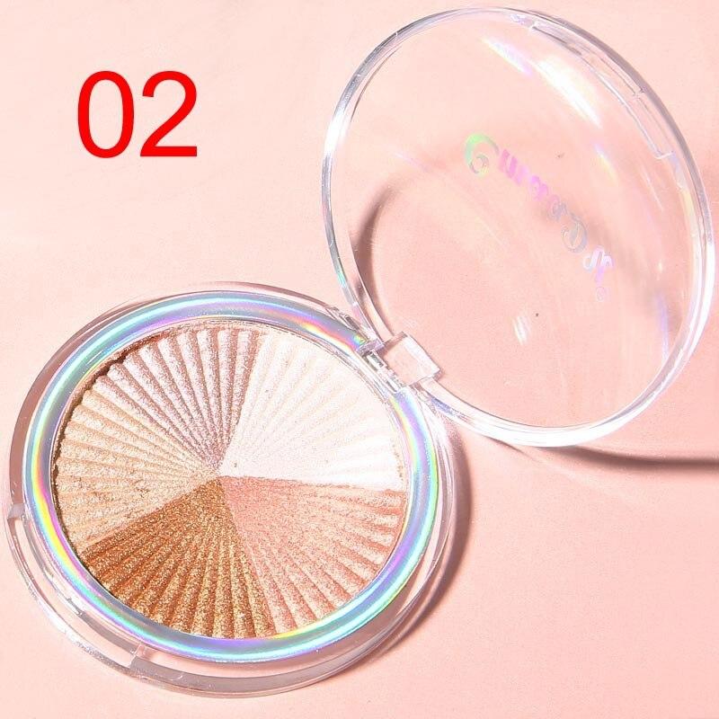 Highlighter Facial Palette Makeup Glow Kit Face Contour Shimmer Powder Base Illuminator Highlight Cosmetics Long Lasting TSLM1 3