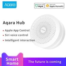 Aqara hub mijia gateway 3 conexão zigbee para xiaomi casa inteligente com função de luz noturna rgb trabalho com mi casa homekit app