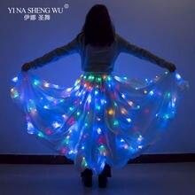 Светодиодная светящаяся Тюлевая юбка для танцев рождественской