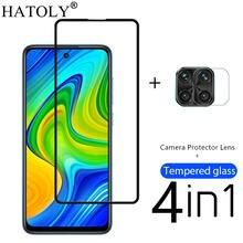 4in1 Protective Glass For Xiaomi Poco M2 Pro Tempered Glass Xiaomi Little Poco F2 Pro X2 Note 9 10X 9S 8 Camera Screen Protector