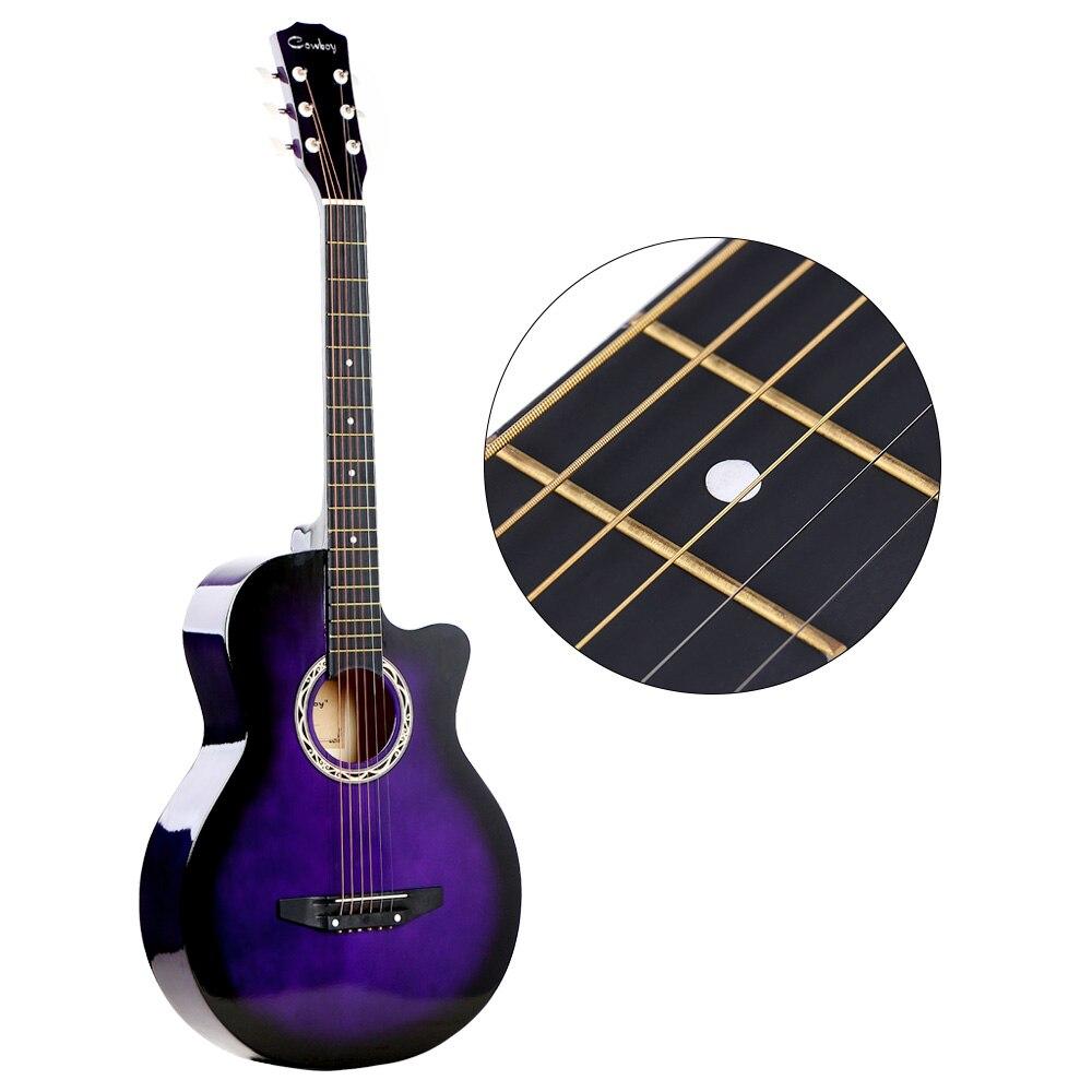 38 guitare Folk acoustique 6 cordes pour débutants étudiants cadeau