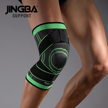 лучшая цена JINGBA SUPPORT Sport Fitness knee brace support Protective gear knee pads Elastic Basketball Volleyball knee protector rodillera