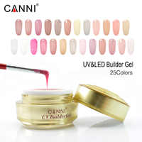 #50951 CANNI ongles approvisionnement or bouteille constructeur gel 15ml clair uv gel art des ongles scupture tremper hors ongles lampe cure mince gel ongles