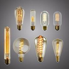 Bombilla Edison Retro E27 25W 40W 60W ST64 230V bombilla incandescente lámpara colgante Vintage accesorios industriales