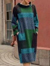 Женское Асимметричное Платье с принтом свободное платье средней