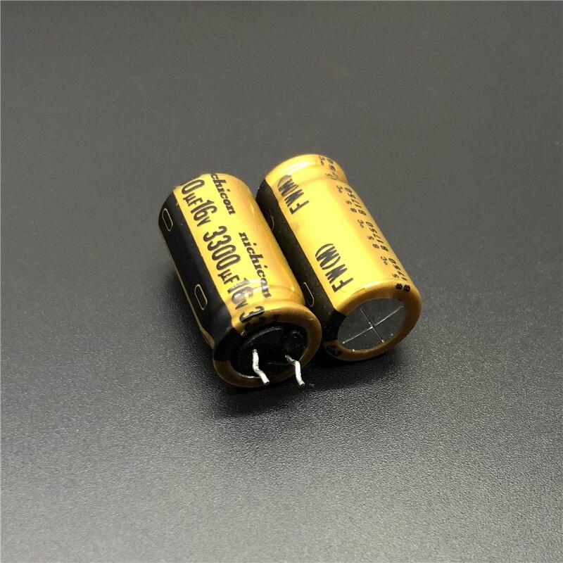 5pcs/20pcs 3300uF 16V 3300uF NICHICON FW Series 12.5x25mm 16V3300uF HiFi DIY Audio Capacitor