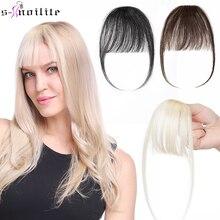 S-noilite 3g Air челка парик человек натуральный черный коричневый тонкий невидимый поддельный шиньон зажим бахрома человек волосы наращивание для женщин