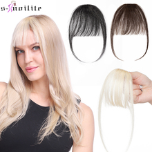 S-noilite 3g Air Bangs Wig Human Natural Black Brown Thin Invisible Fake Hairpiece Clip In Fringe Human Hair Extension For Women