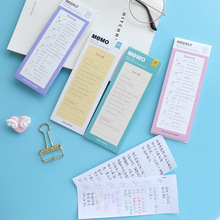 daily weekly planner notebook stickers Post-it notes memo pad kawaii cute stationary sticky notes stationery notepad kırtasiye cute planner sticker weekly monthly work planner post it kawaii notepad school office supplies super sticky pad 60 sheets