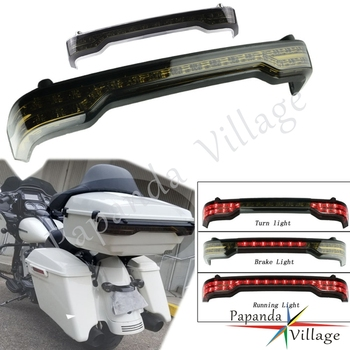 Motorcycle Smoky Running Turn Brake 3 In 1 LED Taillights For Harley Touring Tri Electra Glide Ultra Classic 14-18 Rear Lights