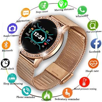 LIGE  2020 New Smart Watch Women Men Heart Rate Blood Pressure Sport Multi-function Watch fitness tracker Fashion smartwatch+Box 1