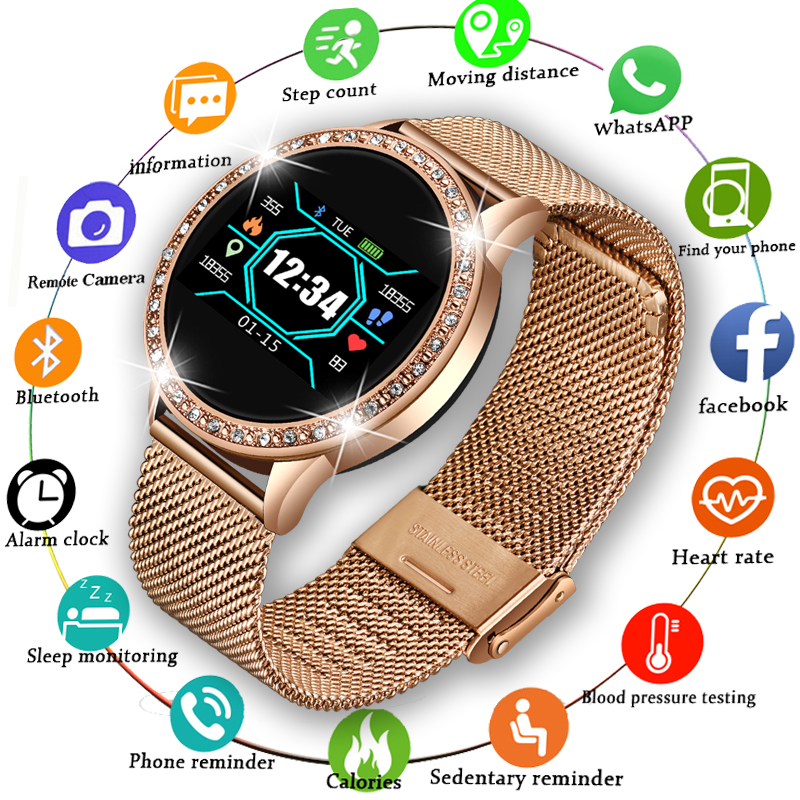 LIGE  2020 New Smart Watch Women Men Heart Rate Blood Pressure Sport Multi-function Watch fitness tracker Fashion smartwatch Box