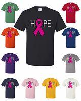 Hope Breast Cancer Awareness T Shirt Pink Ribbon Tee Shirt Cure Support Walk Run Fashion Style Men Tee,Gift Print T shirt