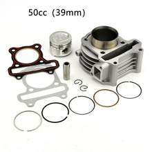 39mm 44mm 47mm 80cc 60cc 50cc 50mm 4T Barril Cilindro Kit para GY6 Scooter 100cc