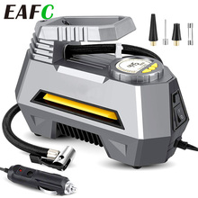 Compresseur d'air de voiture gonfleur de pneu 12V DC arrêt automatique pompe à pneu de pompe à Air de voiture numérique avec lumière LED pour balles de vélo de voiture