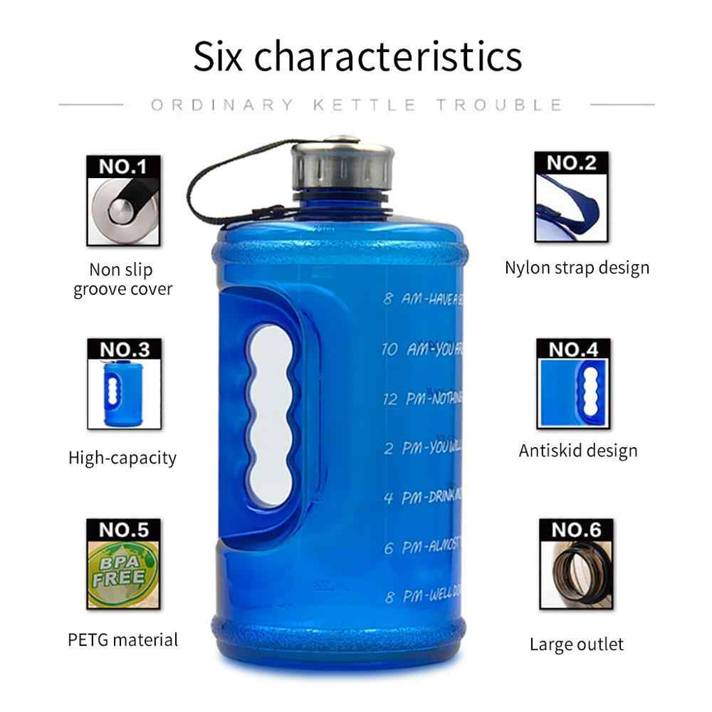 Gallon Water Bottle with Straw Clear Plastic Drinking Bottles Big GYM Jug Cup