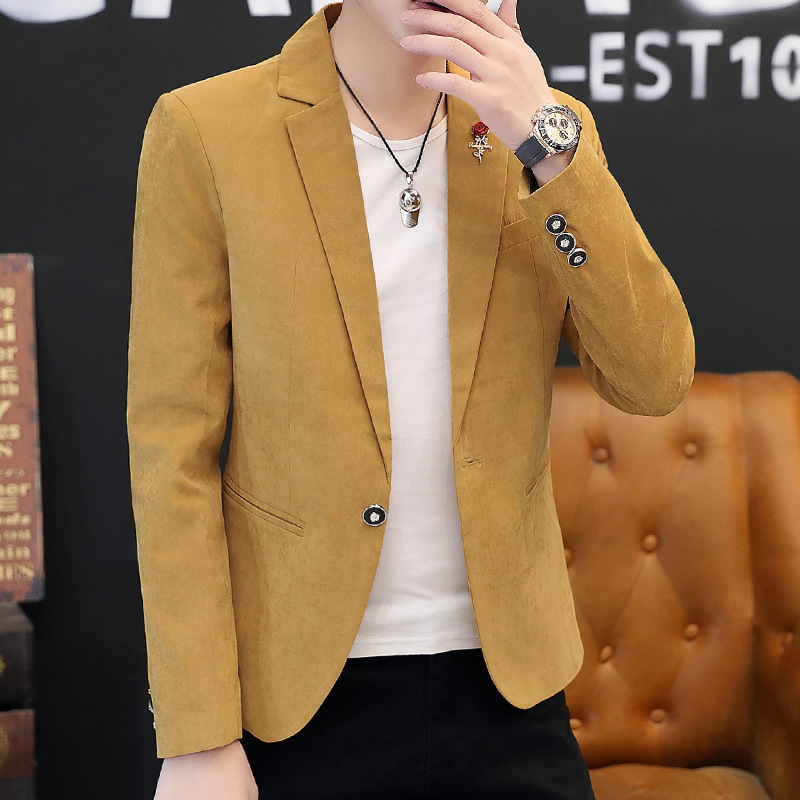 Fall 2020 Collection Men Autumn Pure Color Suit Small Suit Young Cultivate One's Morality