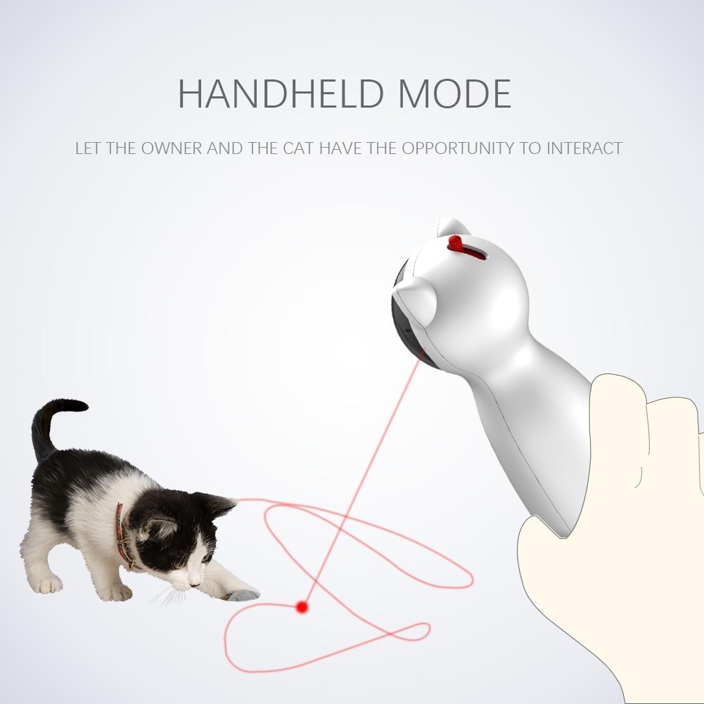 Gato automático brinquedos interativos inteligente provocação animal de estimação led laser engraçado modo handheld eletrônico pet para todos os gatos laserlampje kat 5