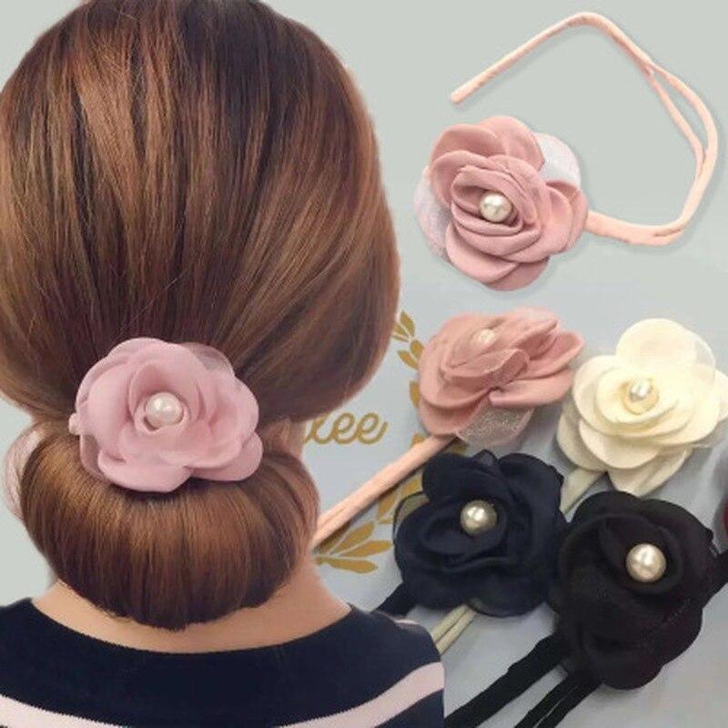 Flower Magic Hair Styling Tools Multi Function Hair Donut Girls Hair Accessories Twister Hair Magic DIY Tool Magic Bun Maker